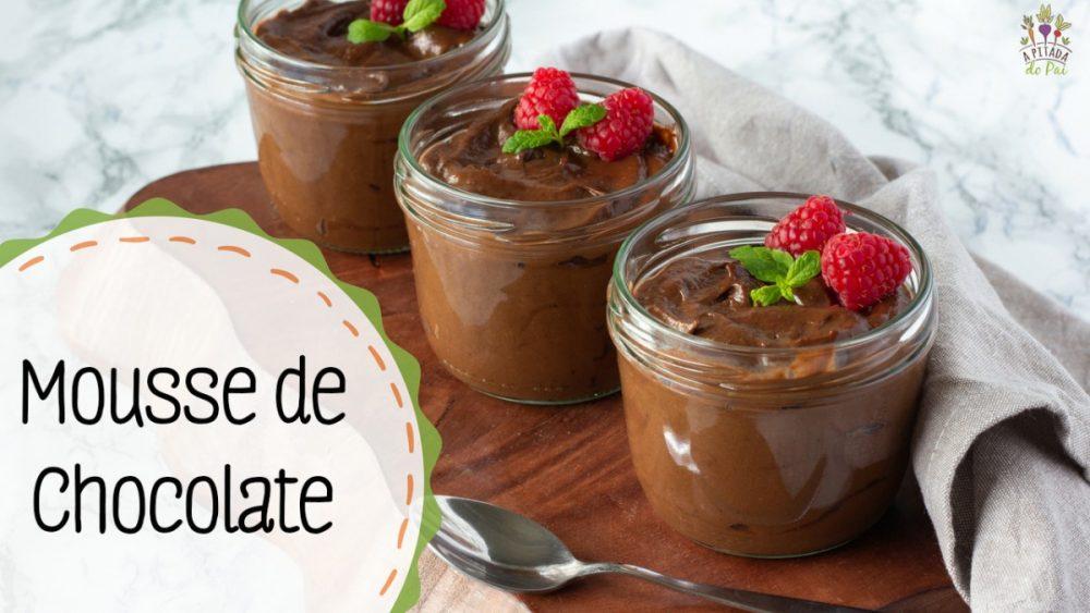 Mousse de chocolate saudável