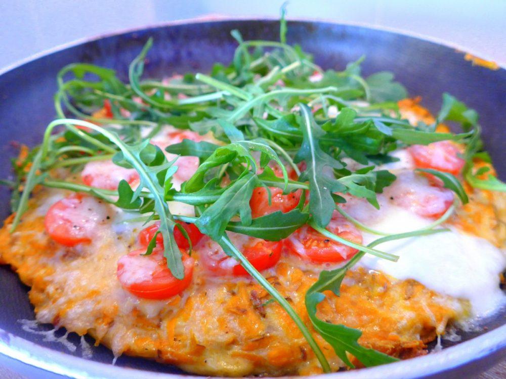 """""""Frittata"""" de batata doce, mais uma pizza saudável"""