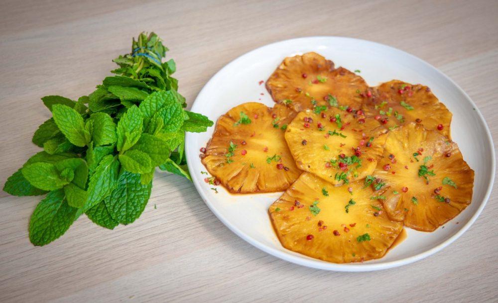 Carpaccio de Ananás - sobremesa fácil e deliciosa!