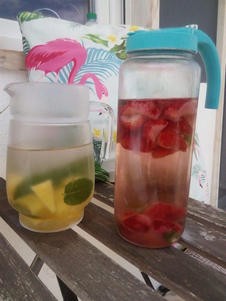 agua aromatizada de morango