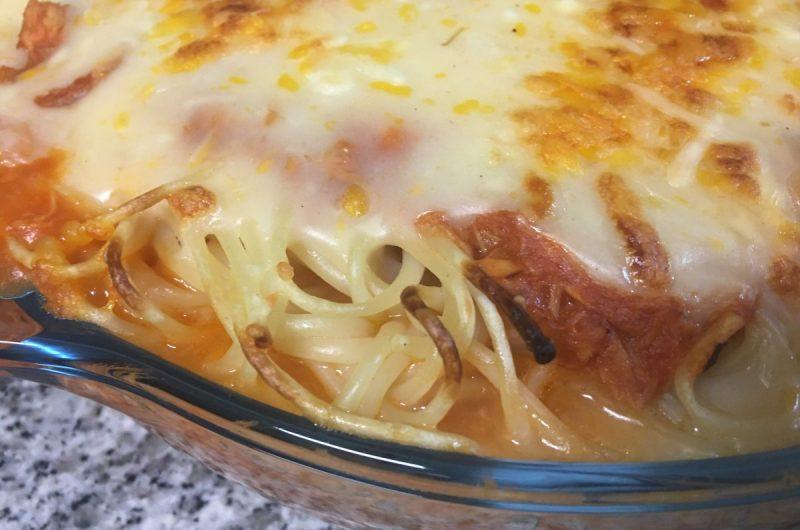 Esparguete com atum e bechamel saudável