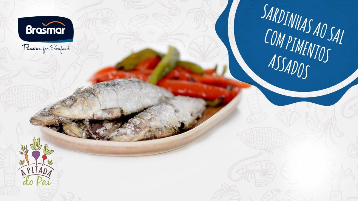 sardinhas ao sal com pimentos assados