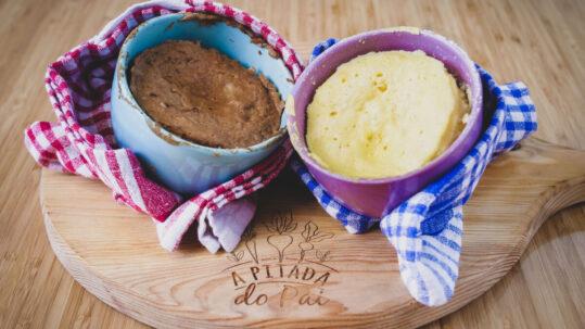 pão de microondas em 2 minutos
