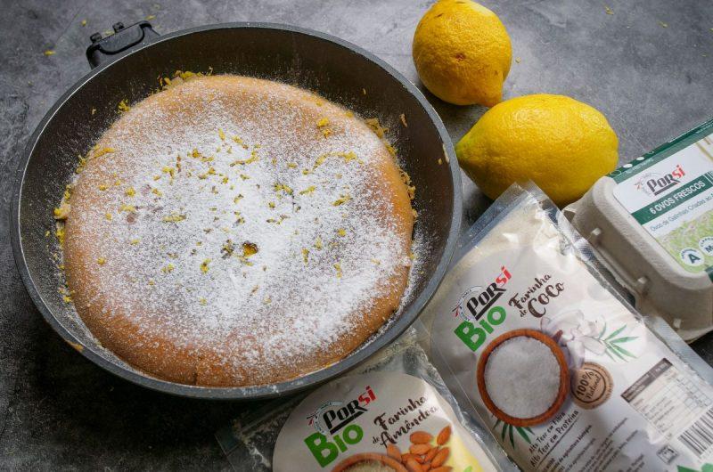 Bolo de limão na frigideira