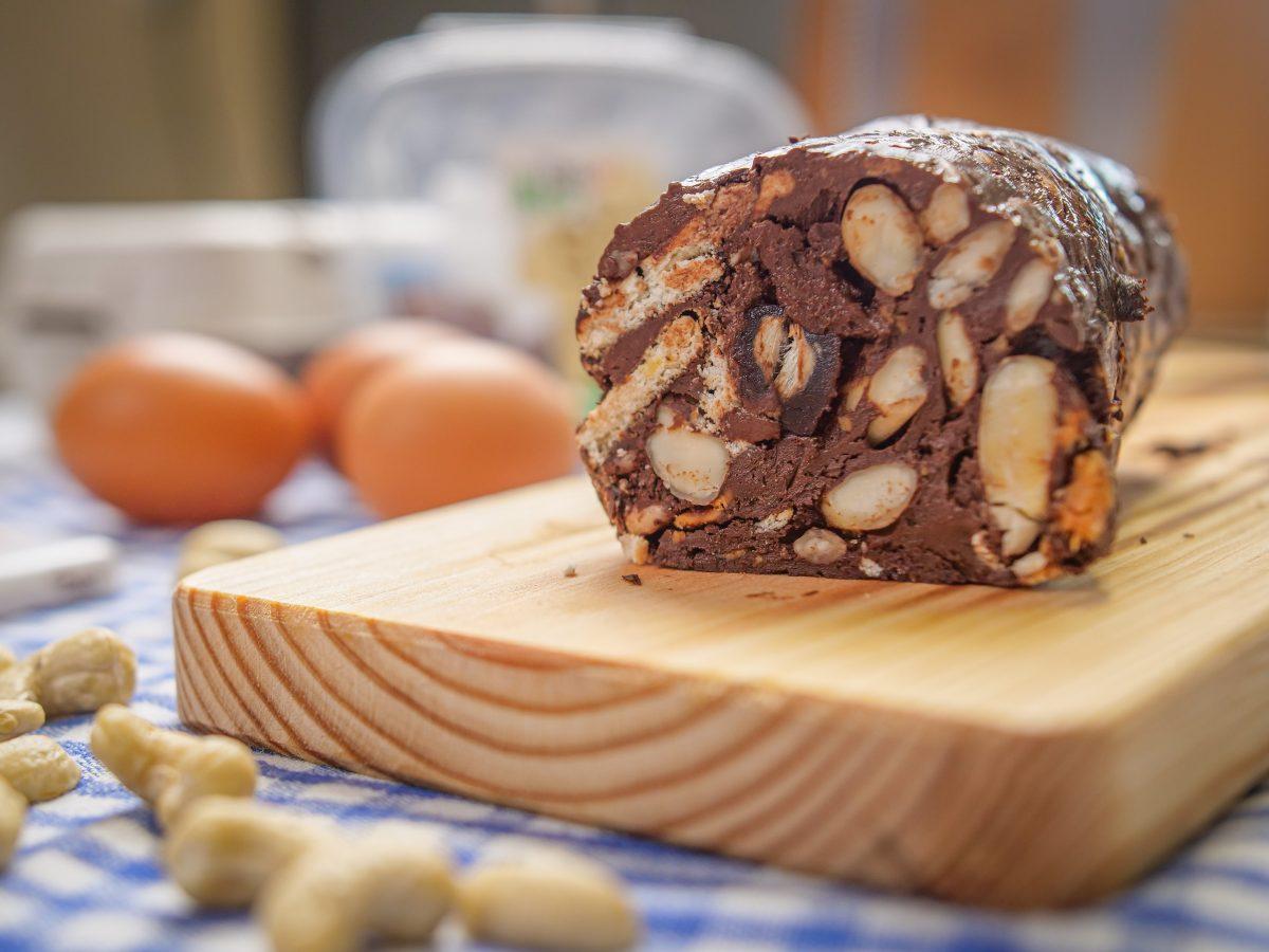 salame de chocolate mais saudável