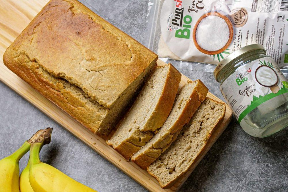 pão de banana sem glúten